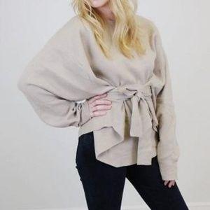 Six Crisp Days Sweater Belted Laenlook Oversized